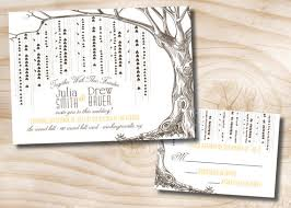 tree wedding invitations willow tree wedding invitations and response card invitation