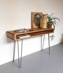 hairpin leg console table industrial chic style reclaimed custom hall console side table w