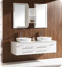 Fresca FVNWH Bellezza  White Modern Double Vessel Sink - Bathroom vanities double vessel sink