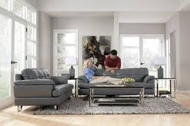 Furniture Minimalist Look Gray Couch Decor To Renew Your