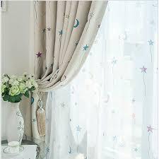 cartoon moon and stars children u0027s room curtains buy grey print