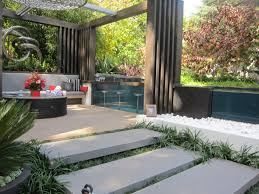 decoration white modern garden design
