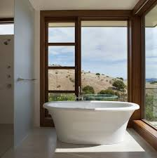 small freestanding bathtub bathroom contemporary with corner