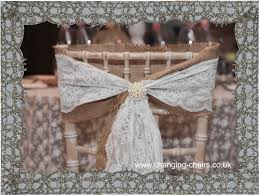 lace chair sashes diy wedding decor ideas inspiration with a hessian touch