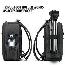 slr camera system backpack w customizable storage for accessories