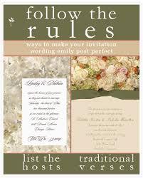 Wedding Gift List Wording The Rules Of Wedding Invitation Wording Break Or Follow