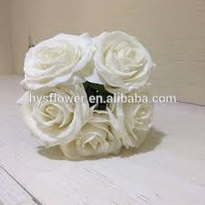 Cheap Wedding Bouquets Cheap Wedding Bouquets Real Touch Single Stem Ivory White Rose