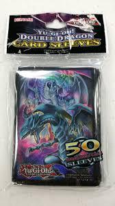 konami yugioh double dragon 50 ct card sleeves deck protectors