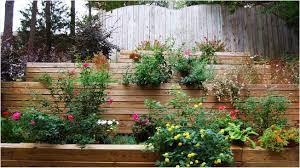 Small Terrace Garden Design Ideas Patio Garden Design Wooden Container Garden On White Ceramic Floor