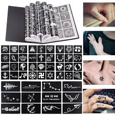 17 blatt 264 karten professionelle wasserdichte henna tattoo