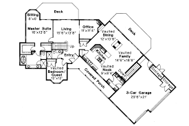 ranch floor plans with 3 car garage ranch house plans ridgecrest 10 257 associated designs