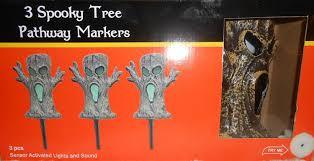 Halloween Stake Lights by Amazon Com Halloween 3 Spooky Trees Pathway Marker Sensor