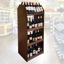 all natural wood wine rack pop display equipment fixtures design
