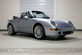 silver porsche convertible 1996 porsche 993 cabriolet polar silver 42 222 miles sloan cars