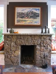 amazing house decoration with natural stone indoor fireplace
