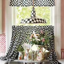 Curtains Set Mackenzie Childs Courtly Check Cafe Curtains Set Of 2