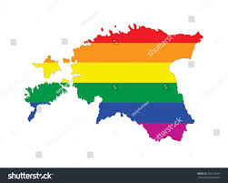 Michoacan Map Estonia Country Pride Flag Map Stock Illustration 343142594