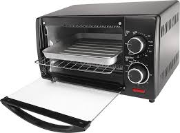 How A Toaster Oven Works Chefman 4 Slice Toaster Oven Black Rj25 4 Best Buy