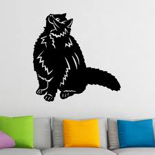 happy cat looking up animal wall sticker world of wall stickers happy cat looking up animal wall sticker decal a