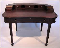 Small Mahogany Desk Fashionable Desks For Small Spaces Home Designing
