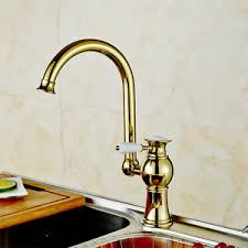 Kitchen Faucets On Sale by Luxury Gold Polished Brass Kitchen Faucets One Hole