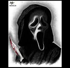 print 8x10 ghostface scream wes craven dark art
