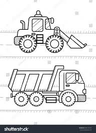 cars vehicles coloring book kids dump stock vector 400176337