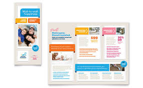 carpet cleaning brochure template word u0026 publisher