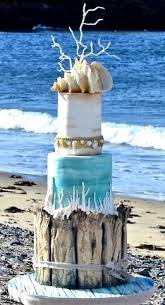 Cake Decorations Beach Theme - 78 best beach wedding cakes images on pinterest beach cakes