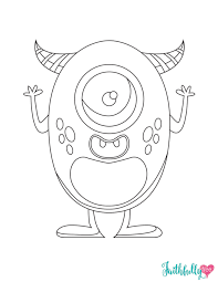 monster coloring pages free printables faithfully free