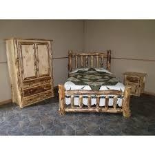 Rustic Log Bedroom Furniture Rustic Aspen Log Complete Bedroom Set