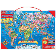 The World Map Labeled by Amazon Com T S Shure Wooden Magnetic World Map Puzzle Toys U0026 Games