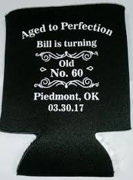 60 years birthday cheers to 60 years birthday koozie can coolers personalized