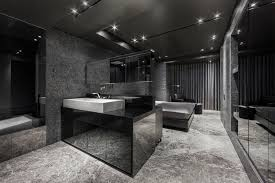 Bathroom In Black Architecture Awesome Home In Black Design With Black Marble Floor