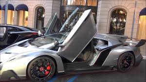 grey lamborghini veneno insane 4 5 million lamborghini veneno start up revs