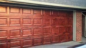 Exterior Garage Door by Fix Lovely How To Stain Your Garage Door To Look Like Wood