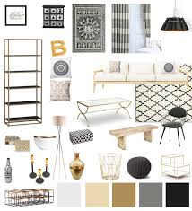 Black And Gold Living Room Decor by White Gold And Black Decor Living Room Living Room Decor Black