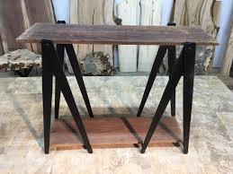 iron horse table base hand forged steel sawhorse table legs sofa table base custom inside