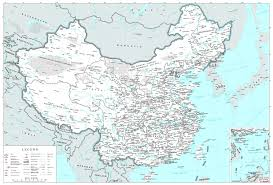China Map Cities by Large Political And Administrative Map Of China With Cities And