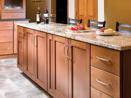 dazzling maple shaker kitchen cabinets features brown color