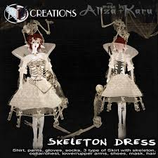 Skeleton Dress Second Life Marketplace Box Skeleton Dress Goth 3d 550
