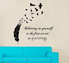 Bedroom Wall Decals Etsy Wall Decals Vinyl Decal Sticker Quote Believing In Yourself Is The