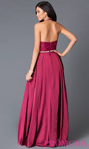 long satin and lace halter top prom dress promgirl