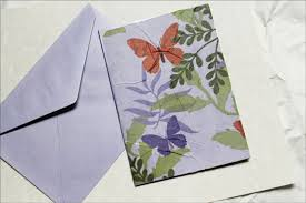 paper greeting cards sending a greeting card made with tissue paper loulou