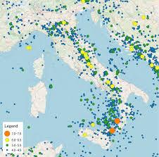 Italian Map List Of Earthquakes In Italy Wikipedia