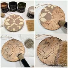 easy crafts for stencil tree ornaments