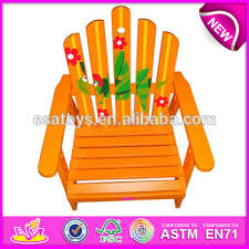 Beach Armchair Outdoor Wooden Beach Armchair Toy For Kids Yellow Finger Style