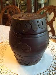 antique pot metal ls antique johann maresch dog in a barrel tobacco jar humidor barrels