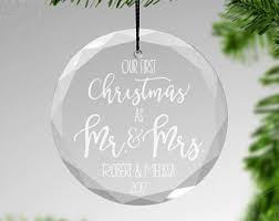 mr and mrs ornament etsy