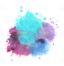 Purple Paint by Splashed Watercolors Blue And Purple Paints On White Background